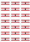 Drenthe Flag Stickers - 21 per sheet